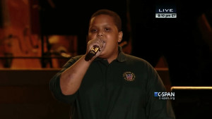 Bobby Hill of Keystone State Boychoir singing at Festival of Families (CSpan)