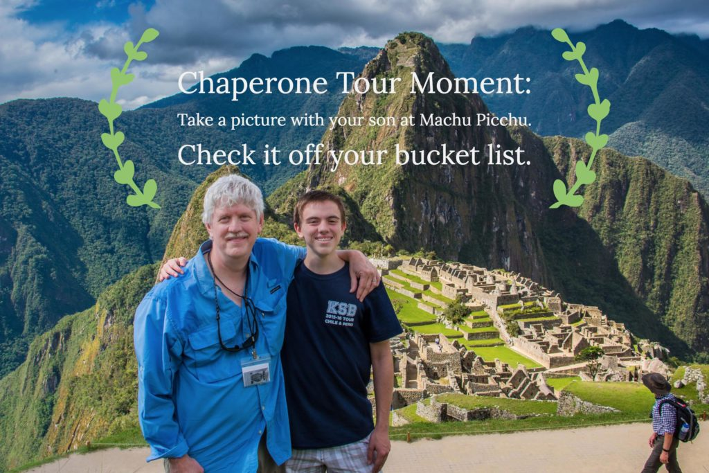 KSB chaperone and son at Machu Picchu